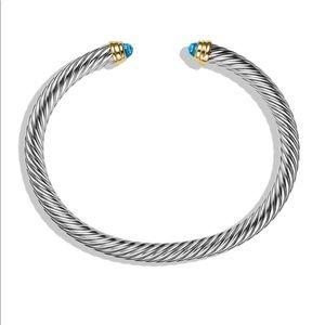 David Yurman Jewelry - David Yurman Cable Bracelet - Blue Topaz and Gold